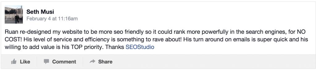 Seth Musi posted on SEOStudio's timeline - rjrossouw@gmail.com - Gmail