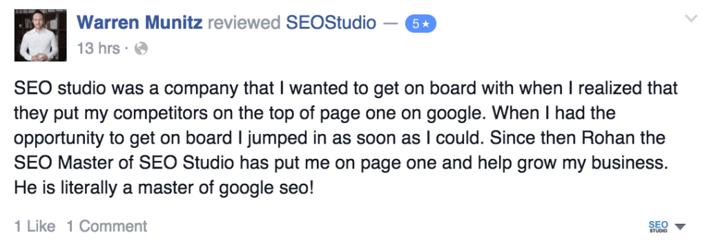 Warren Munitz SEO Review